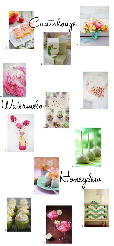 Inspiration - Summer Melons via homework   carolynshomework.com