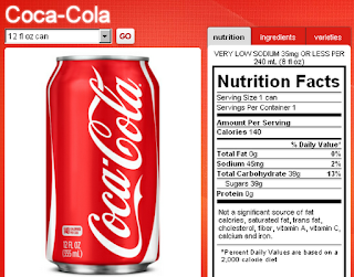 coke nutrition label