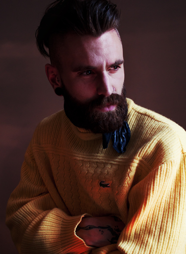 Ricki Hall in Lacoste sweater