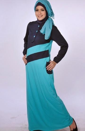 Model baju gamis trendy dan casual