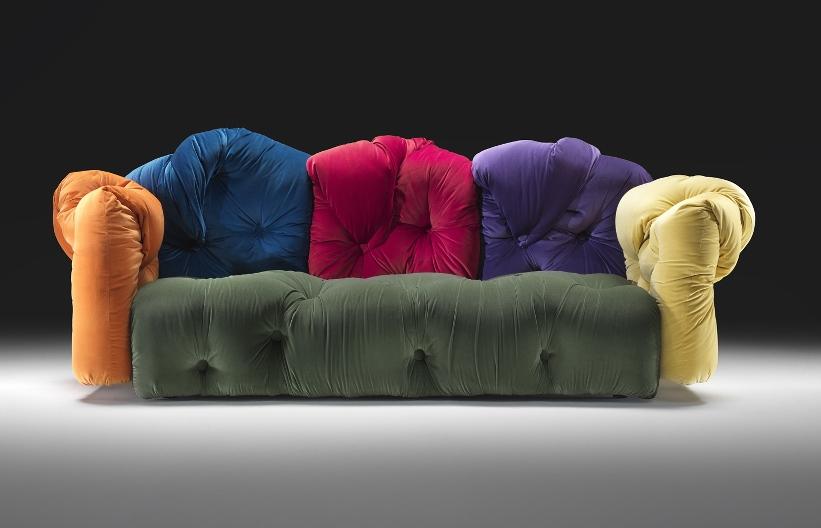 Perfect Multi Colored Sofa Italian Style