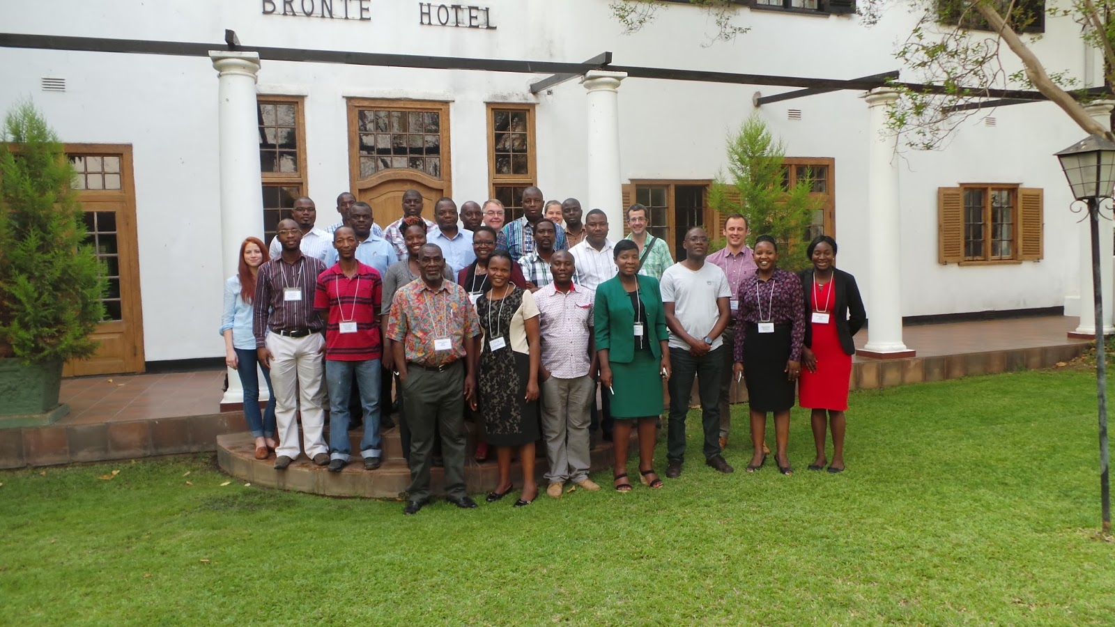 Delegates attending RS-DFID network-training event in Harare
