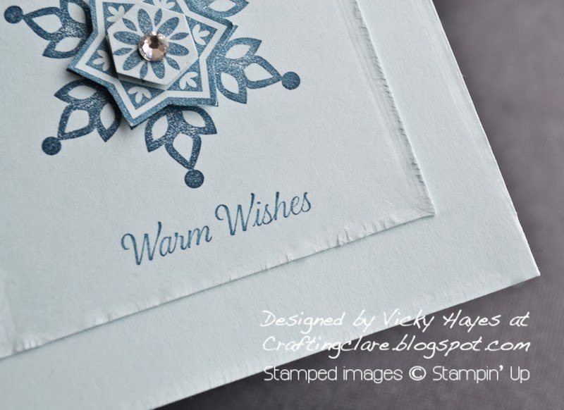 Snowflake Christmas card with sentiment from Remembering Christmas from Stampin' Up
