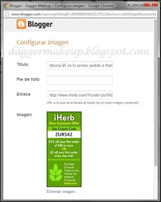 Configurar una imagen con un banner de publicidad