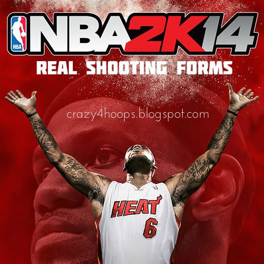 NBA 2k14 Realistic Shooting Forms Patch