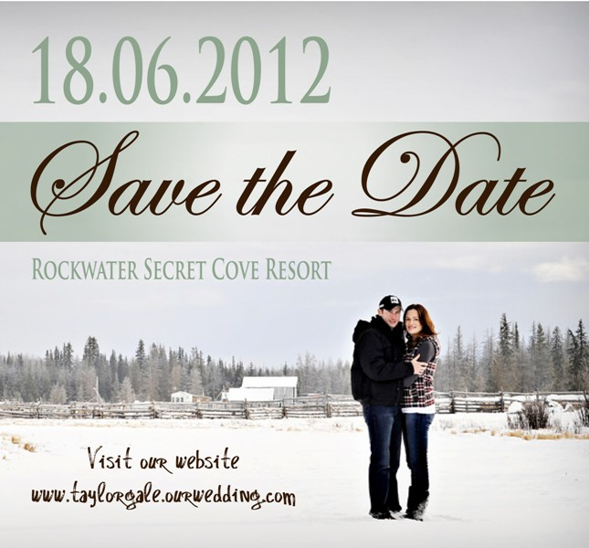 TLC Weddings & Events: Save The Date designed by Taryn, TLC ...