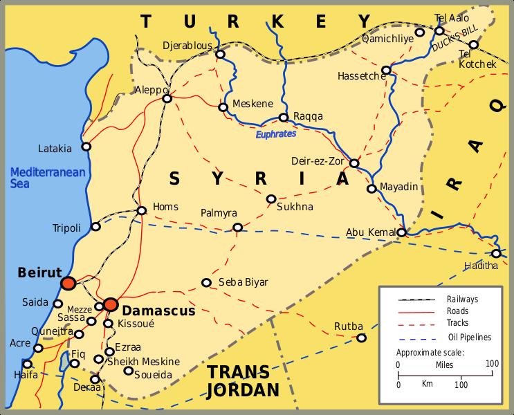 Resultado de imagem para mapa antigo da siria