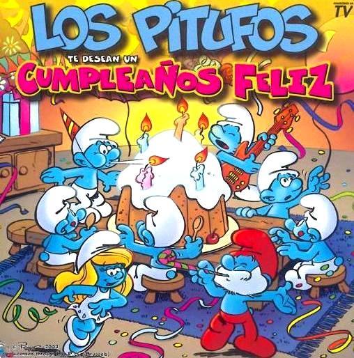 Dibujo de Los Pitufos