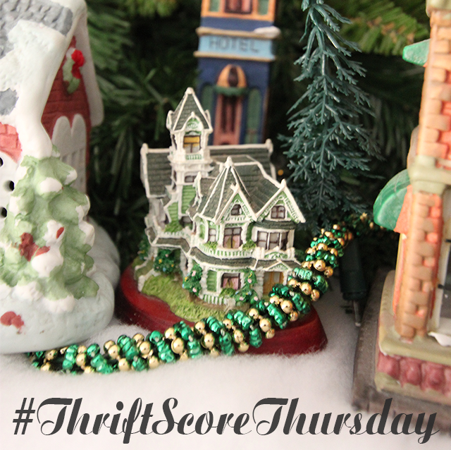 #thriftscorethursday Week 44 Christmas Village | www.blackandwhiteobsession.com