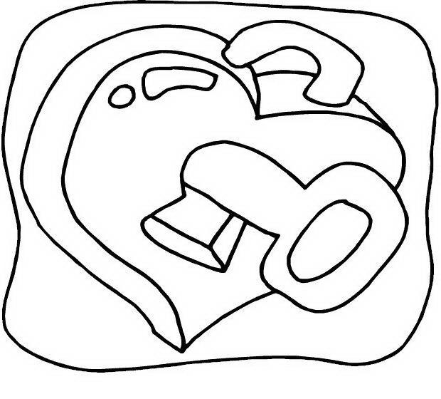 COLOREA TUS DIBUJOS: Cerradura en forma de corazón