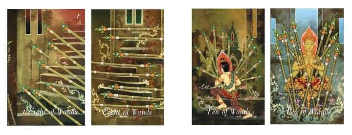 Four heavenly kings tarot minor cards arcana Thai ไพ่ทาโร่ไทย จาตุมหาราชทาโร่ จตุมหาราชทาโรต์ ไมเนอร์ การ์ด ไพ่ชุดเล็ก 4hk tarot