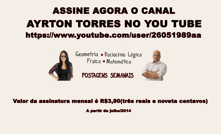 NOVIDADES DO CANAL AYRTON TORRES NO YOUTUBE