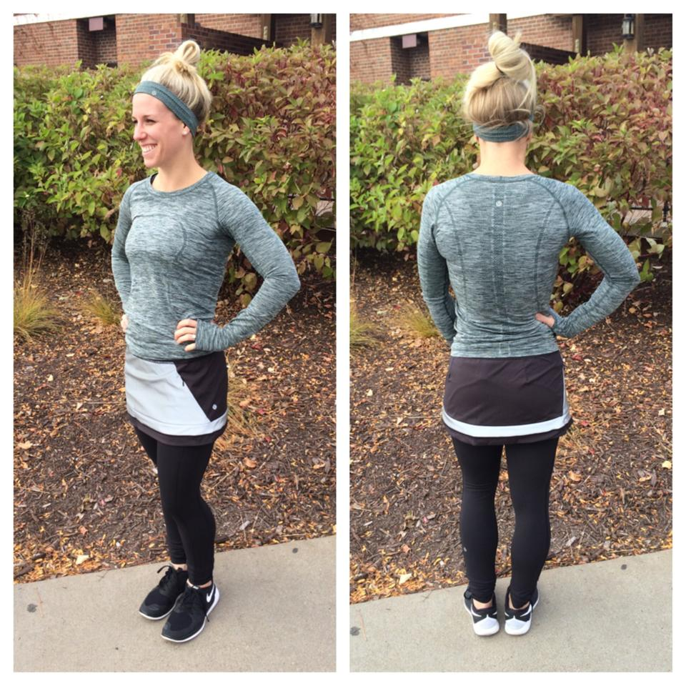 lululemon light it up skirt fuel swiftly ls