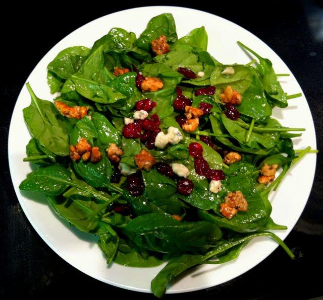 Candied Walnut Gorgonzola Salad - Food Junkie Chronicles