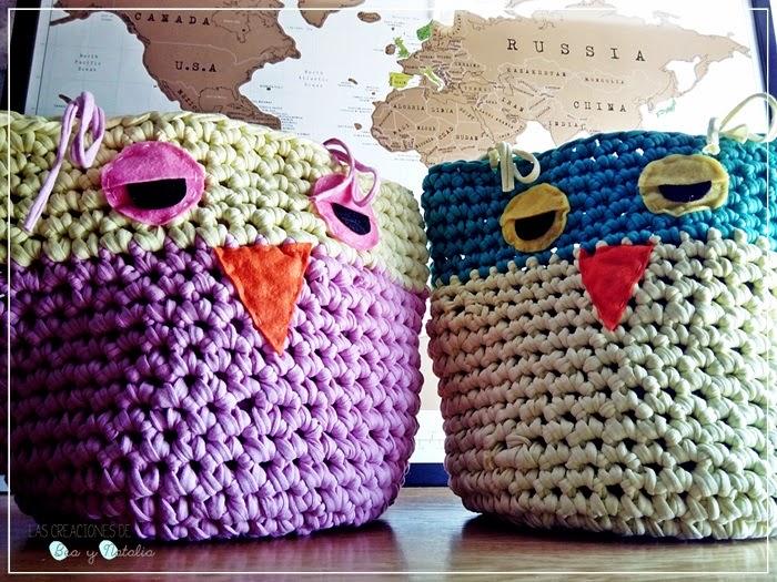 El Baúl de la Mary ♥: DIY: cestos de trapillo y crochet