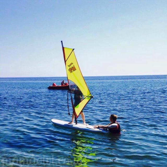 H windsurfing with Mark Warner Junior Club