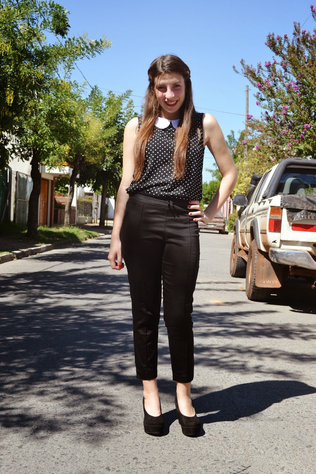 pantalón de vestir negro