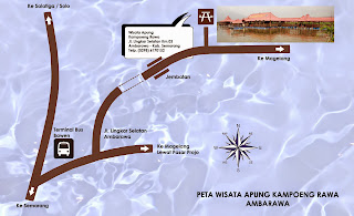 Peta lokasi Kampung Rawa Ambarawa