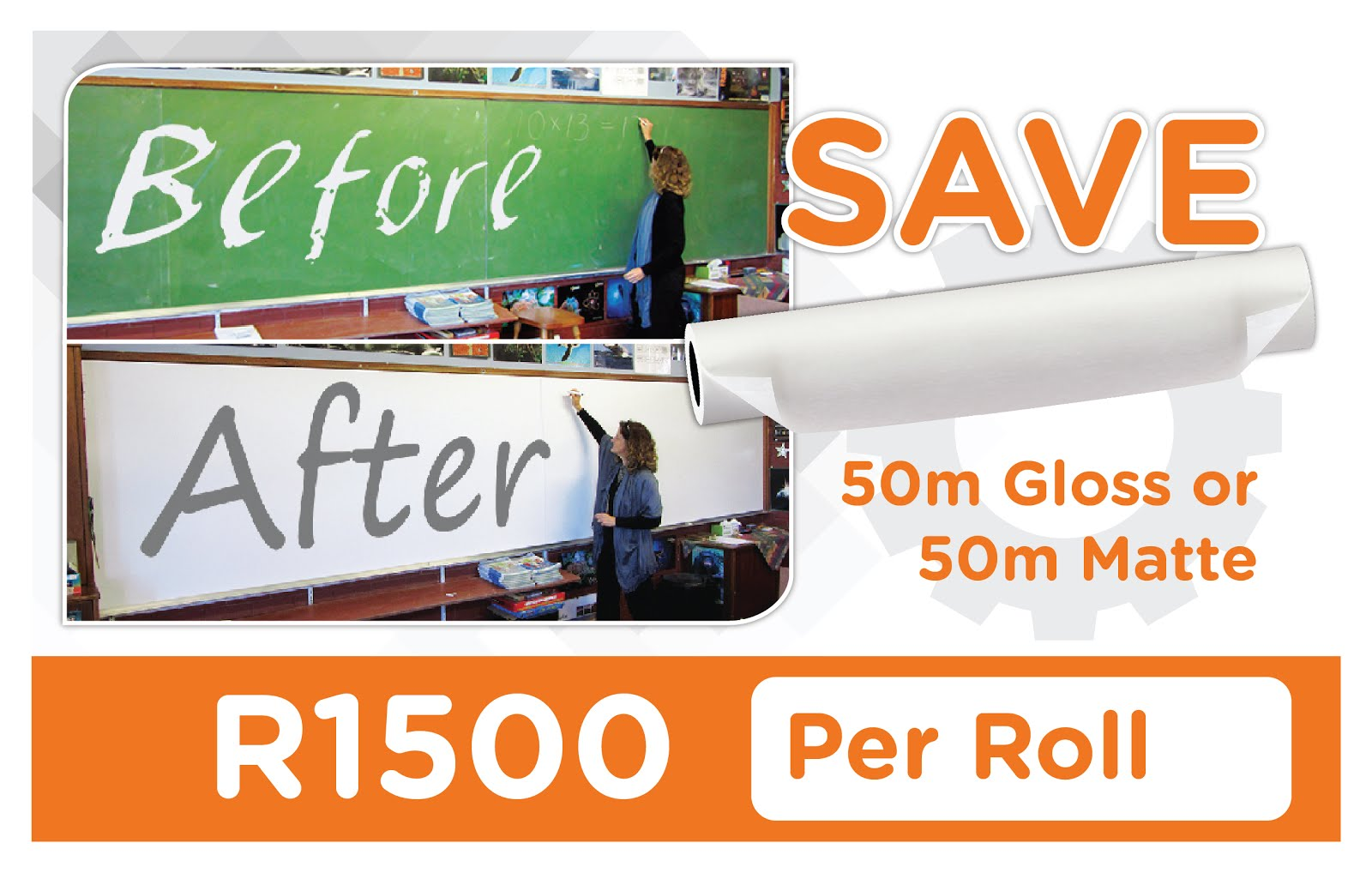 Turn Chalkboards into Whiteboards Massive Savings