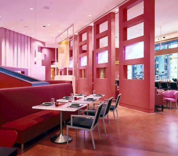Restaurant Interior Design Ideas Red Sofa