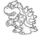 #3 Bowser Coloring Page