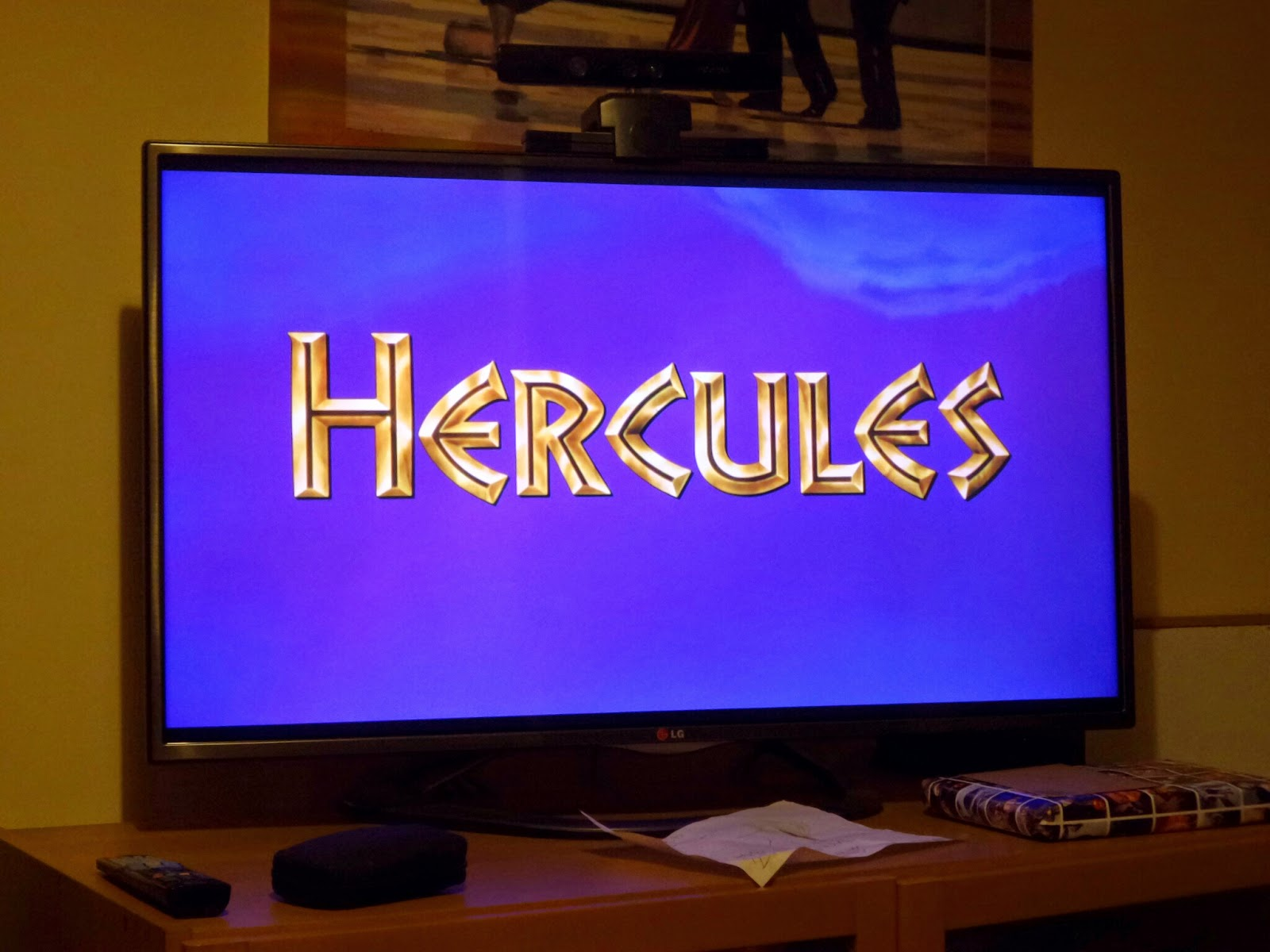 Watching Hercules - best Mummy Homework Ever
