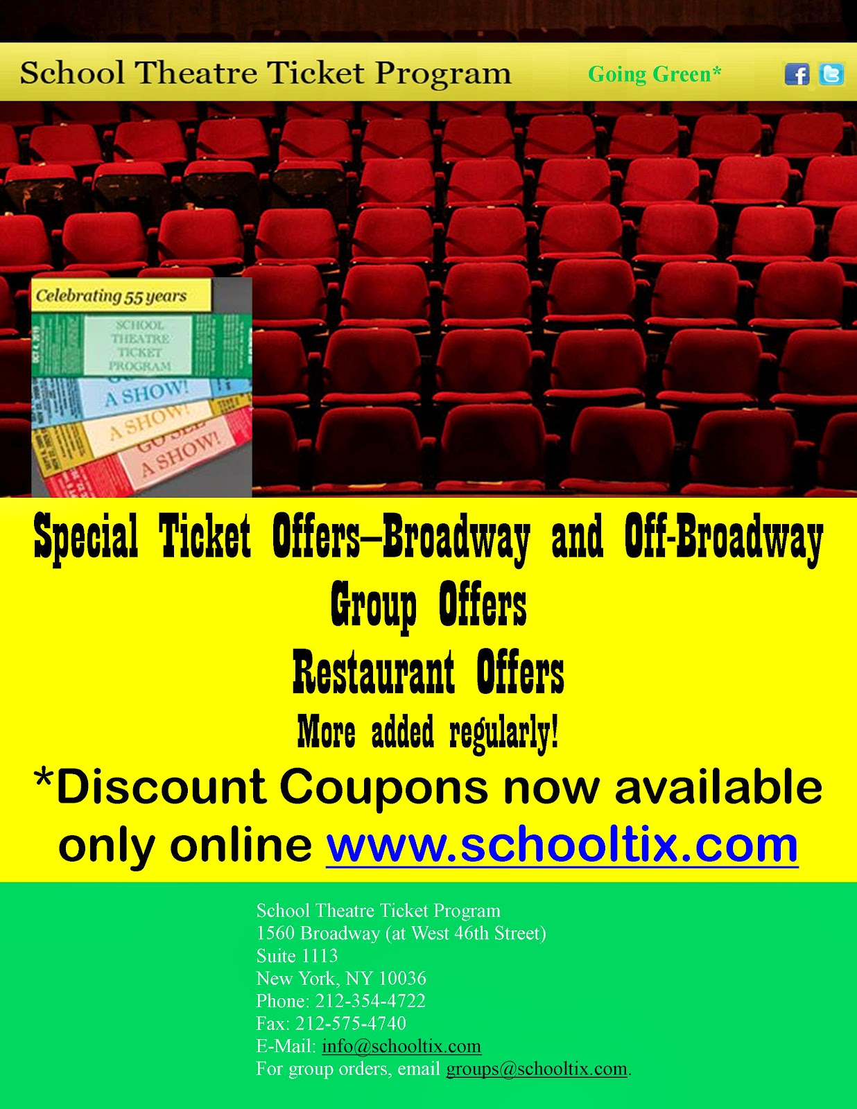 Broadway tickets discount coupons