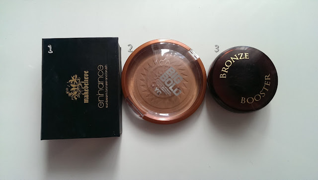 Three different bronzers including the physicians formula bronze booster