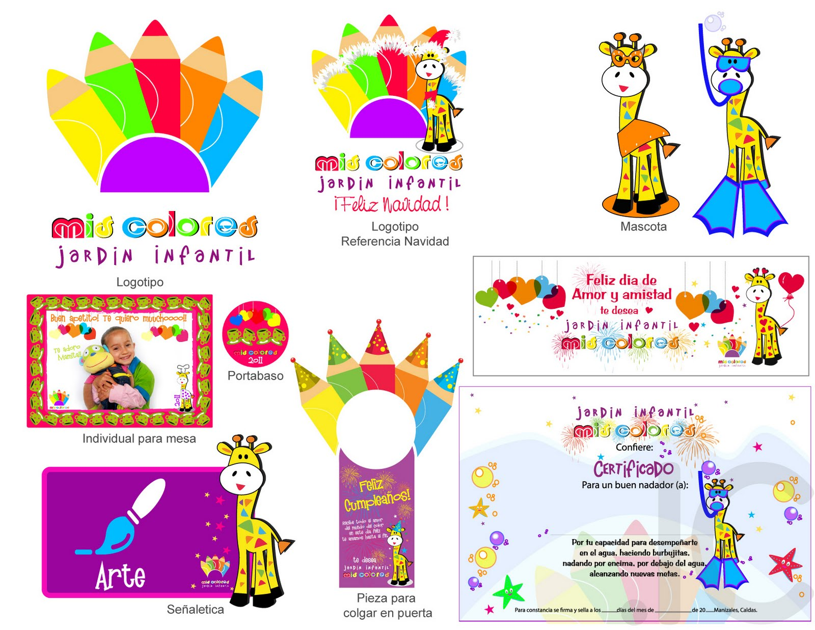 Ic consultores identidad corporativa jardin infantil mis for Jardin 7 colores