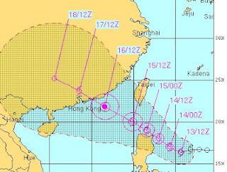 Tropischer Sturm KAI-TAK (HELEN): Philippinen, Taiwan und Hong Kong im Visier, Kai-Tak, Helen, Philippinen, Hongkong, Taiwan, aktuell, Vorhersage Forecast Prognose, August, 2012, Taifunsaison 2012,