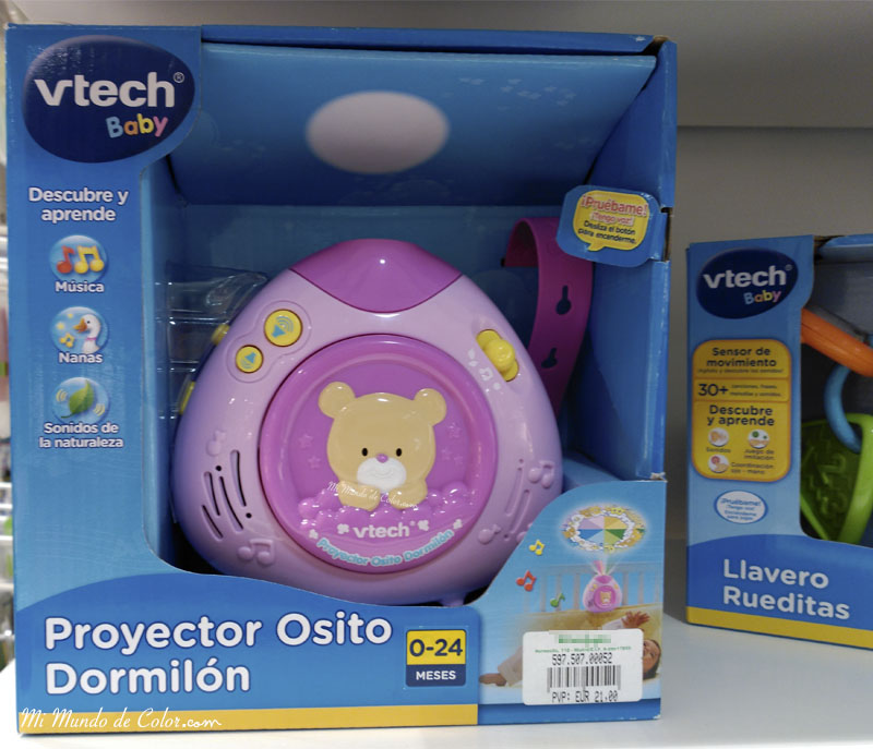 cajas de musica y luces para bebes