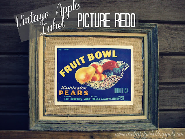 Vintage Apple Label - Picture Redo