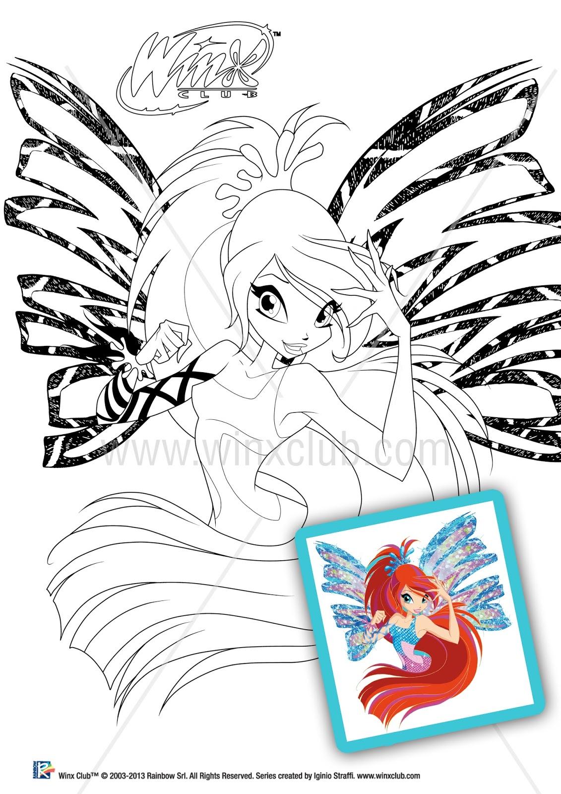 Winx para colorir Winx Club - imagens para colorir winks