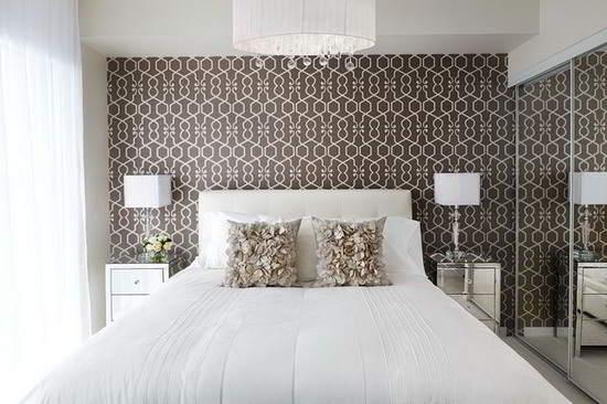 Decoração de quarto com papel de parede Decor Alternativa ~ Quartos Decorados Com Papel De Parede Preto E Branco