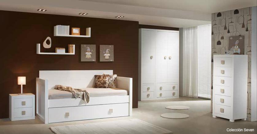 Dormitorios habitaciones juveniles e infantiles lacadas - Dormitorios con muebles blancos ...