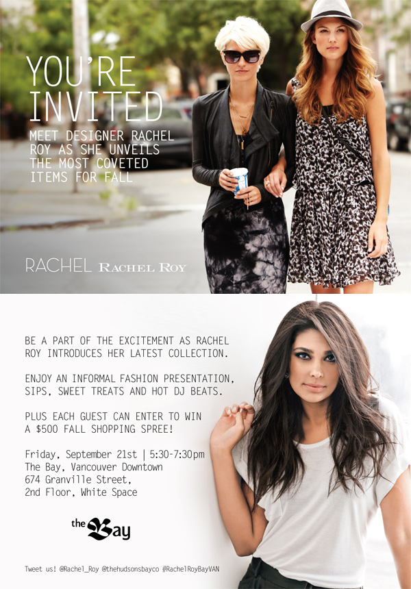Meet Rachel Roy at The Bay Sep 21, Vancouver, Rachel Roy, RRR, Rachel Rachel Roy