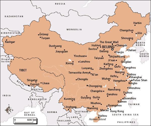 gambar peta negara cina dengan kondisi yang terisolir namun cina ...