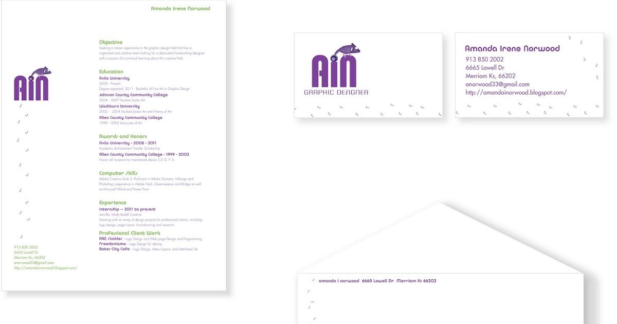 Graphic Designer: Self Promotional LetterHead Set