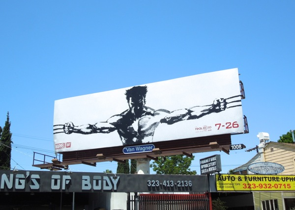 Wolverine movie billboard