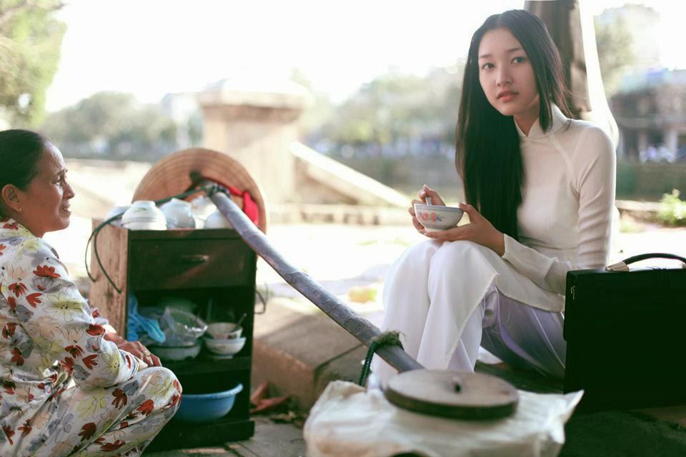 Vietnamese traditional long dress (Áo dài)