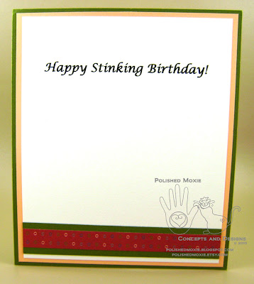 Picture of the inside of the skunk birthday card