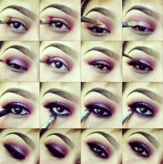 Molto DIY: Tutorial trucco occhi viola luminoso | Eyes makeup tutorial  QZ44