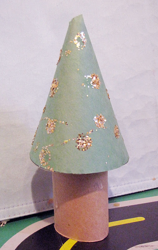 water dispenser a piece of construction paper glitter and glue Construction Paper Craft Ideas For Christmas