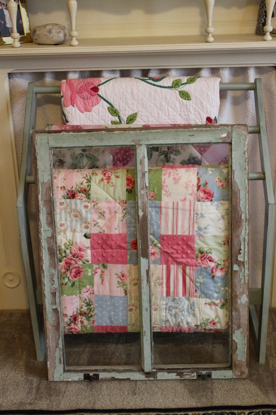 il ladder rustic quilt wedding display fullxfull gift log rug rack listing wood