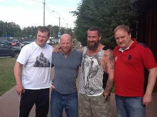 Джефф Монсон фото с Поветкиным и Бадюком