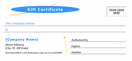 airline gift certificate template – Word Gift Certificate Templates