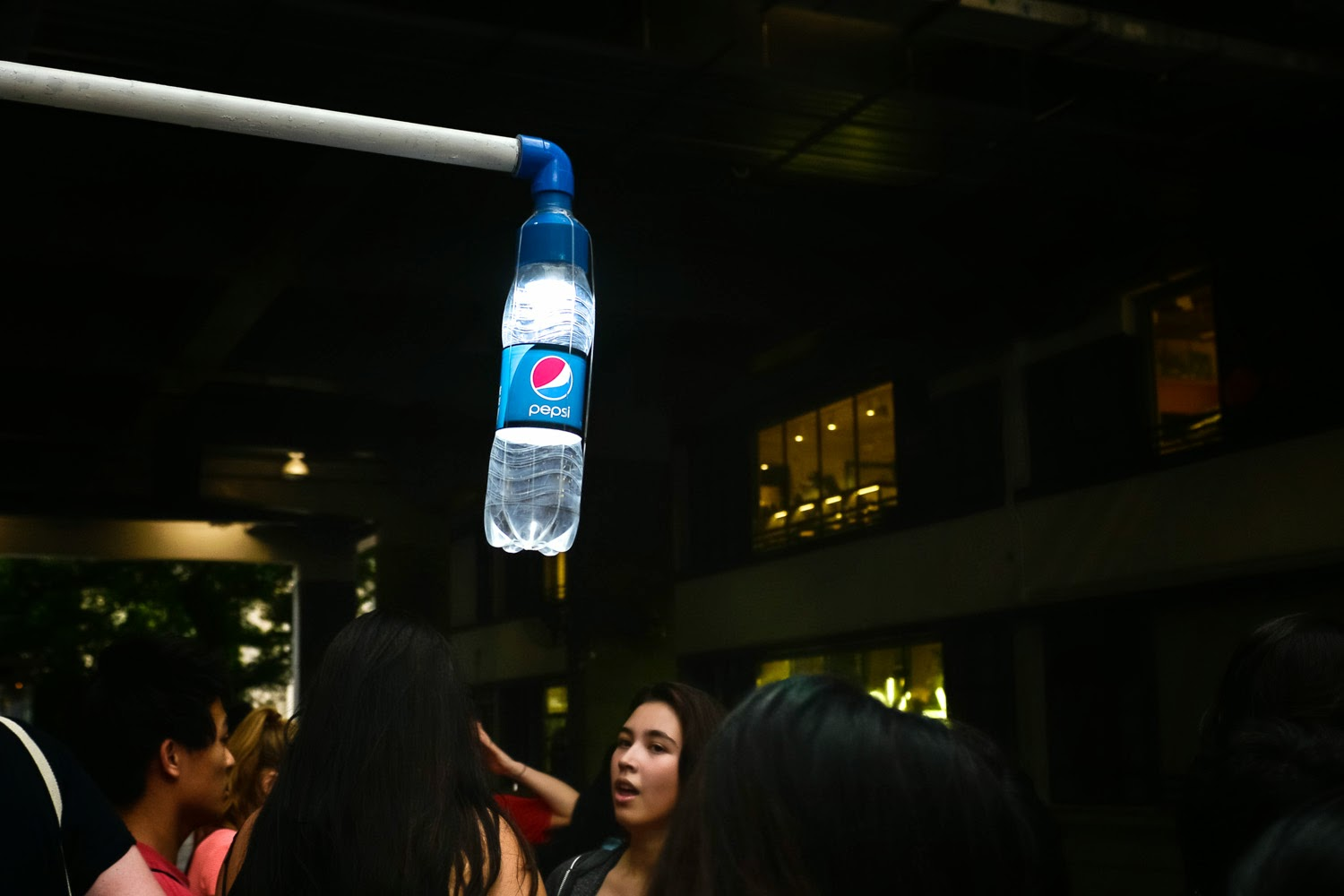 "A solar bottle light is seen at The Pepsi x Liter Of Light ""Ignite The Light"" Tour at PMQ, Central on March 15, 2015 in Hong Kong"