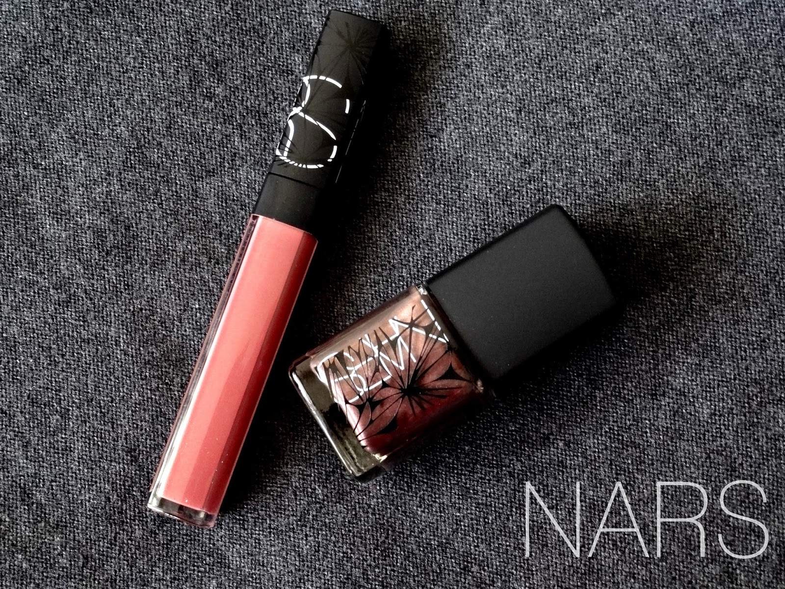 NARS Laced with Edge Holiday Collection Corsica gloss and Sherwood Nail Polish