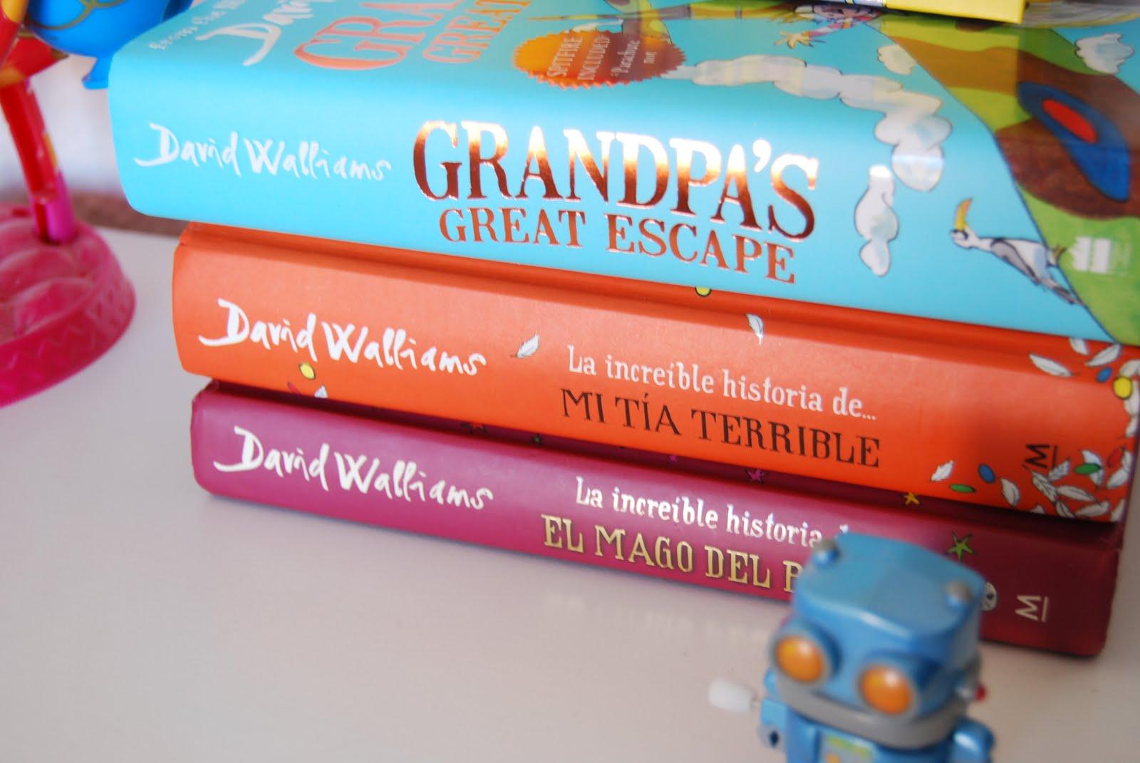 """Las increíbles historias de David Walliams. Todos sus libros empiezan con """" La increíble historia ..."""