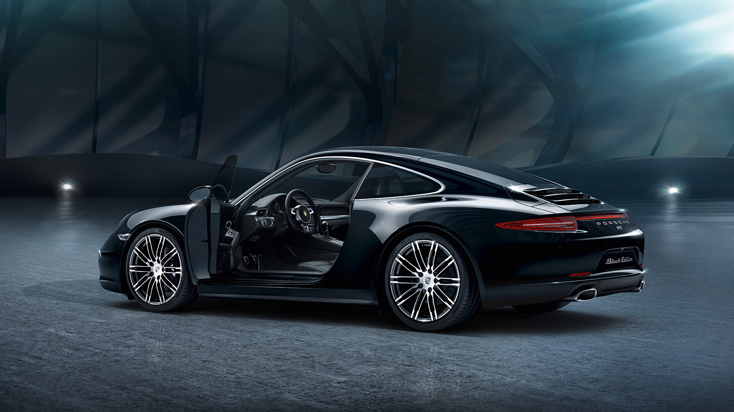 heres your gallery of porsches new 911 and boxster black editions - Porsche 911 2015 Black